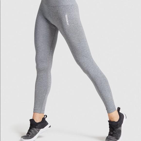 Gymshark Adapt Marl Seamless Leggings Grey